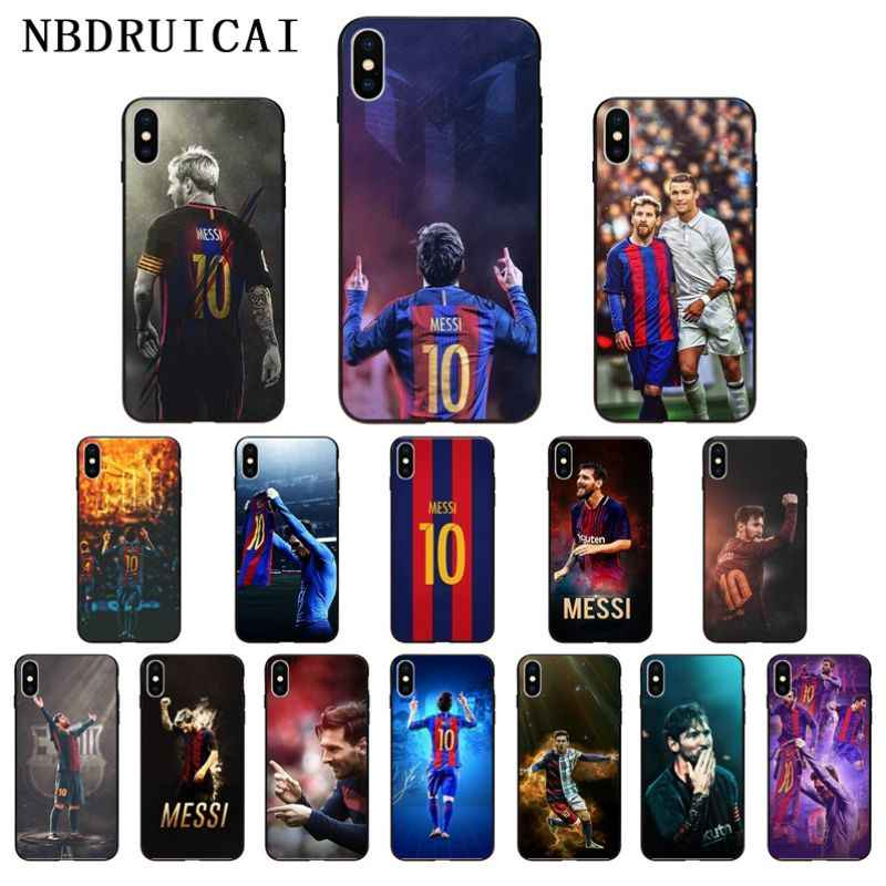 NBDRUICAI Lionel MESSI สีดำคุณภาพสูงสำหรับ iPhone 11 Pro XS สูงสุด 8 7 6 6S PLUS X 5 5S SE XR