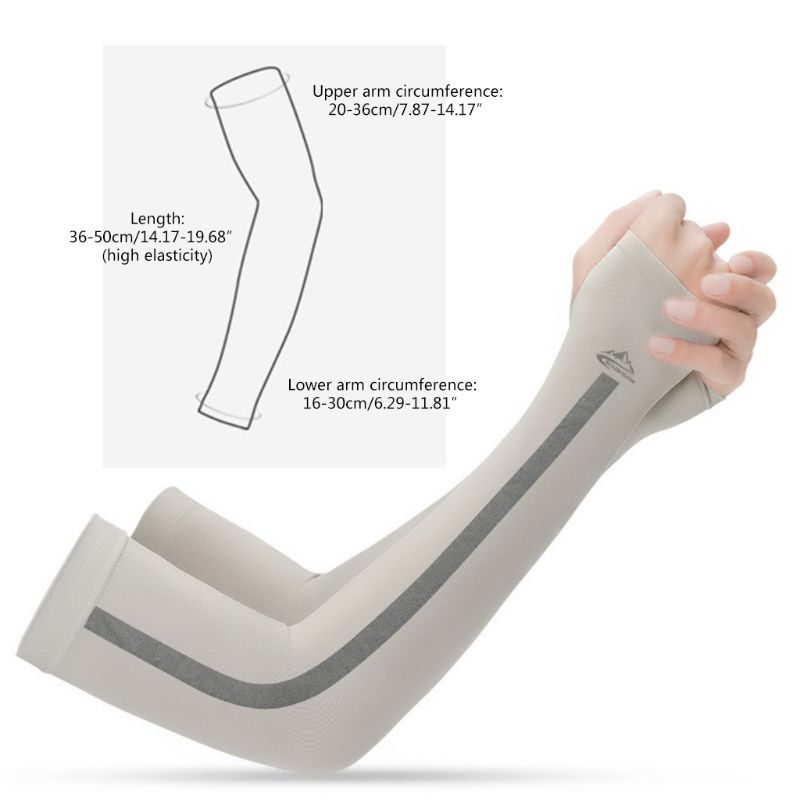 Unisex UV Sun Protection Ice Silk Cooling Arm Sleeves UPF 50 Compression Cover Shield For Sport Driving Cycling