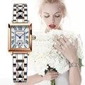 2021 LIGE Brand SUNKTA Women Watches Fashion Square Ladies Quartz Watch Bracelet Set Dial Simple Rose Gold Luxury Women Watches