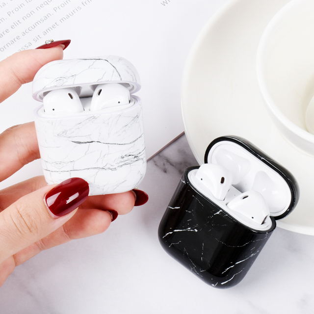 Marble Pattern Case For Apple AirPods.