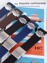 Bransoleta z paskiem na rękę bransoletka z żelem krzemionkowym dla Ulysse Nardin DIVER wodoodporny gumowy pasek do zegarka sport 22mm mężczyzna czarny niebieski brązowy