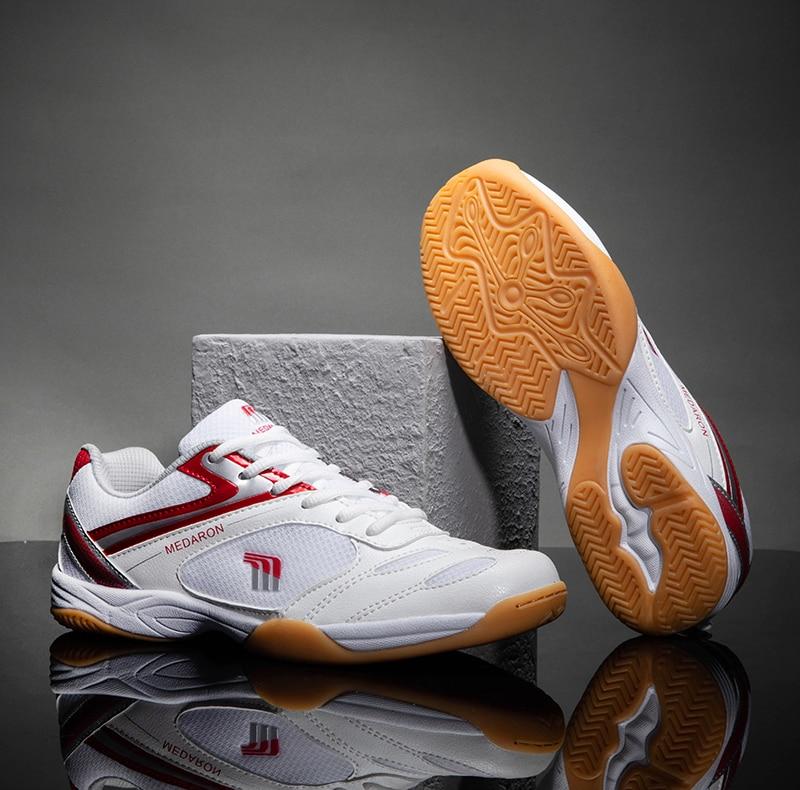 Новинка, тренировочная обувь для тенниса, мужская обувь, размер 36-45, светильник для бадминтона, Нескользящие теннисные кроссовки, дышащая об...