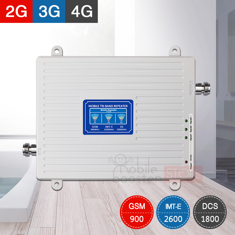 4g Signal Amplifier Gsm Repeater 2g 3g 4g Tri Band Booster 900/1800/2600 Gsm Dcs/lte Fdd 2600 Mobile Phone Signal Amplifier