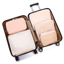 5 хранилище ПК сумка набор легкий чемодан полиэстер складная Одежда Органайзер мешочек для багажа путешествия водонепроницаемый ванная комната