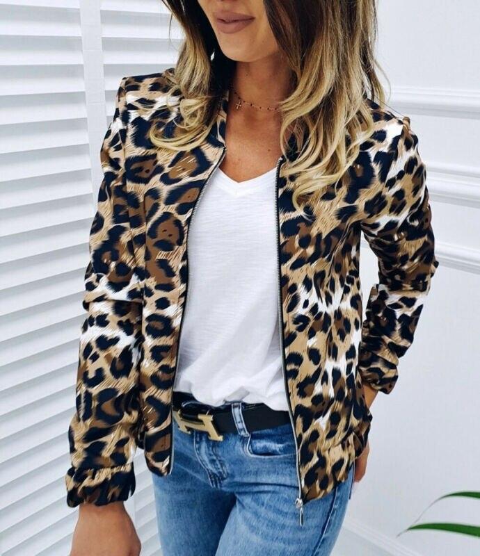 Hot Fashion Women Cool Solid Slim Biker Motorcycle Leopard Soft Zipper Short Coat Jacket Streewear 2020 New