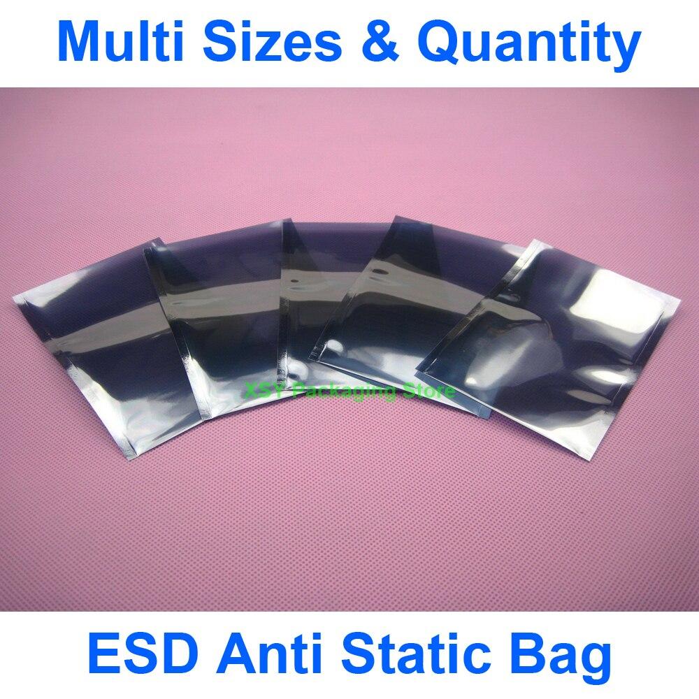 """Разные размеры ESD Антистатический пакет электронная защита (ширина 4,3 """"-5,7"""") x (длина 6,3 """"-9"""") eq. (110-145 мм) x (160-230 мм)"""