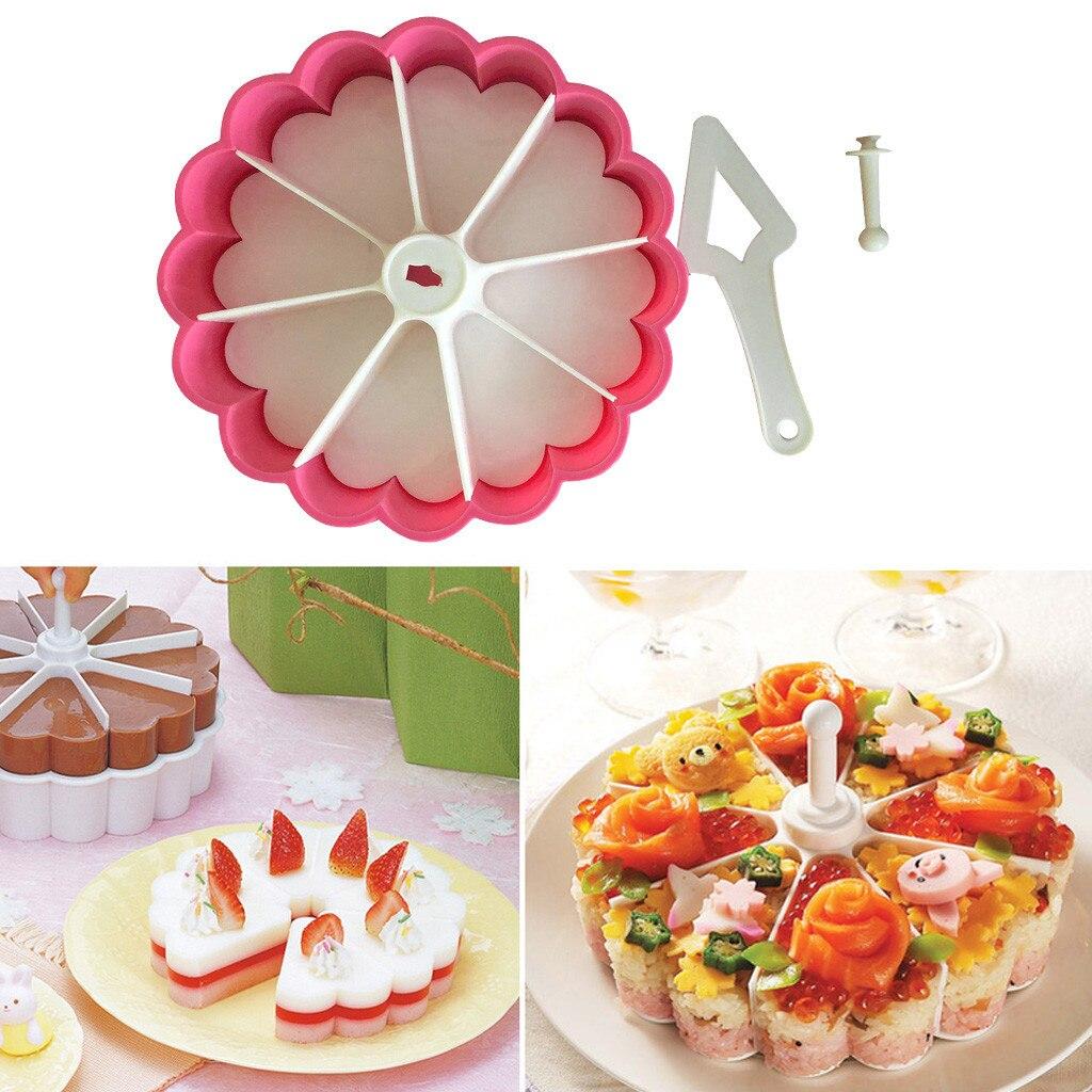 Heart Shaped Baking Mold Kit DIY Cake Fondant Mold Sushi Mold Kitchen Supplies Cake Mould pudding jelly Multicolor plastic