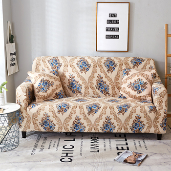 Sofa Covers for Living Room Modern Floral Printed Stretch Sectional Slipcover Polyester L Shape Armchair Couch Case 1/2/3/4 Seat 24