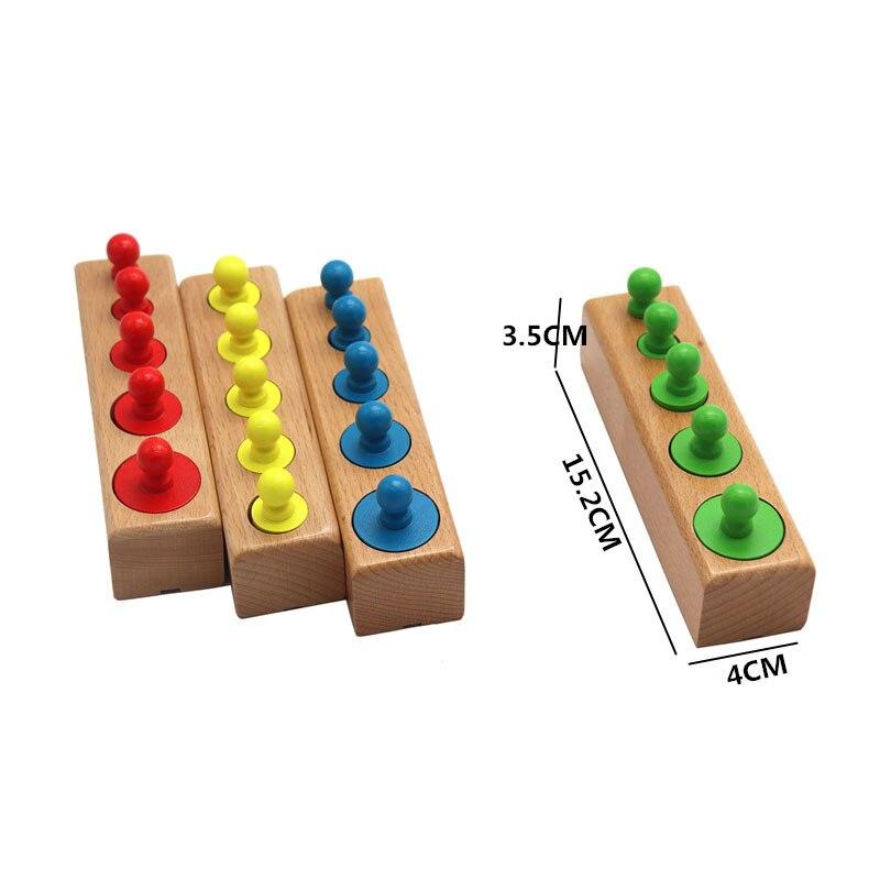 Kids Wooden Montessori Toys Memory Match Stick Educational Color Cognitive Geometric Shape Puzzles Toys For Children 10