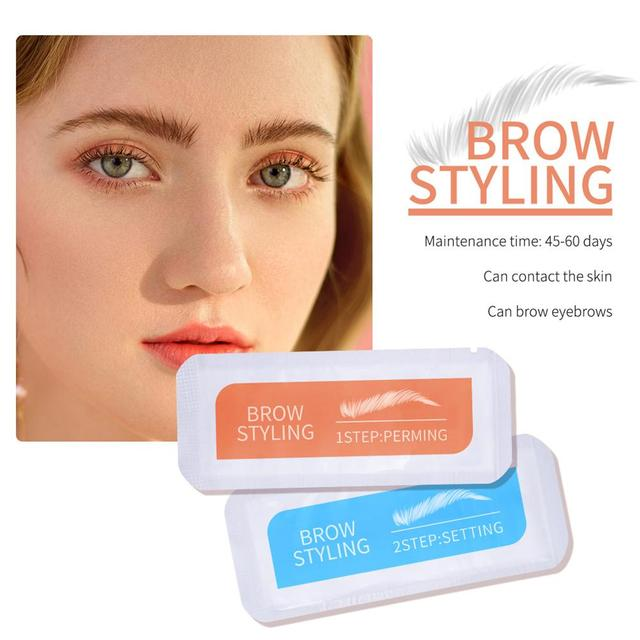 2Pcs Keratin Brow Lamination Kit Brows Lift Perming Kit Long Lasting Eyebrow Lifting Makeup Set Eyebrow Dye Setting Gel 4