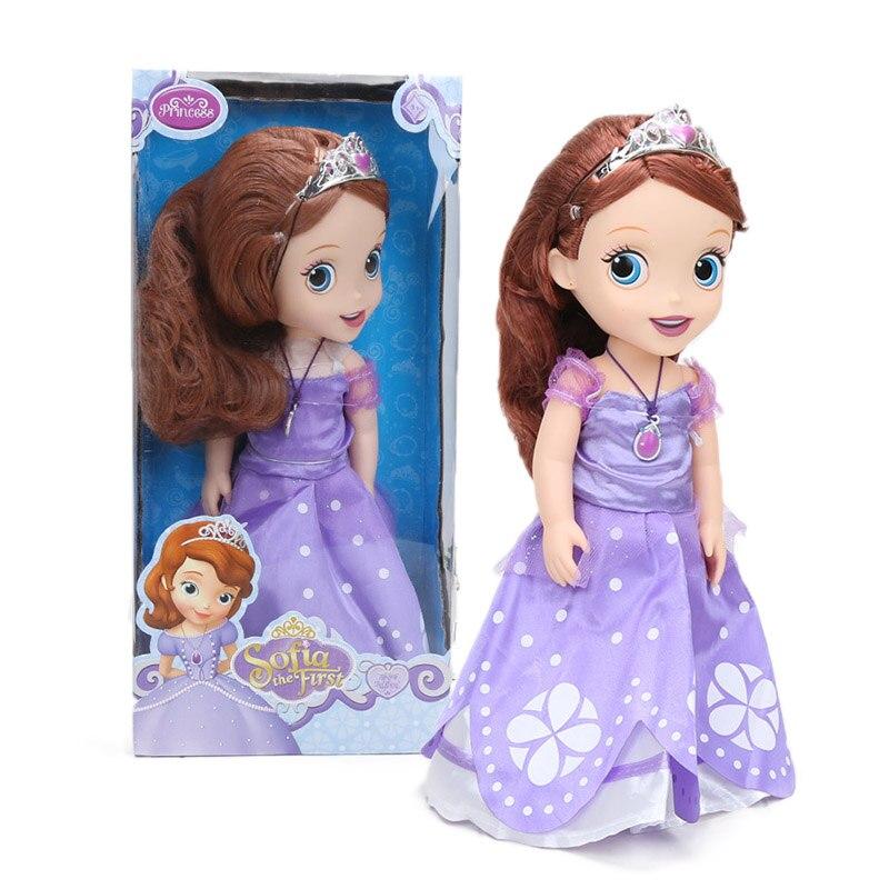 30cm Disney Princess Figura Sophia Sofia A Primeira Princesa Da Disney PVC Action Figure Collectible Modelo Bonecas Brinquedos