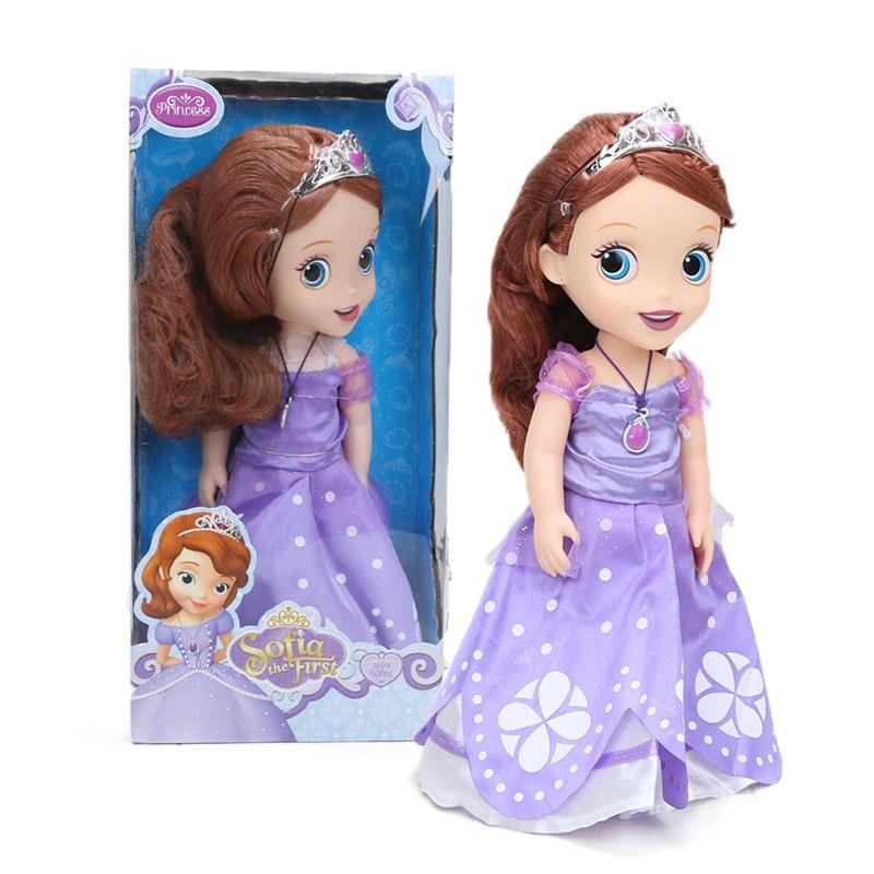 30cm Disney Princess Figure Sofia Sophia The First Disney Princess  PVC Action Figure Collectible Model Dolls Toys