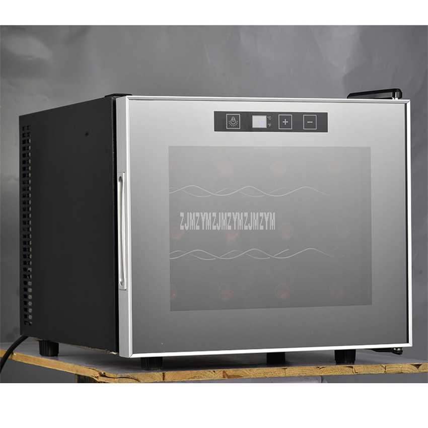 3 Layer 29L Electric Red Wine Cabinet 12 Bottle Constant Temperature Stainless Steel Home Ice Bar Mini Wine Refrigerator TL-29
