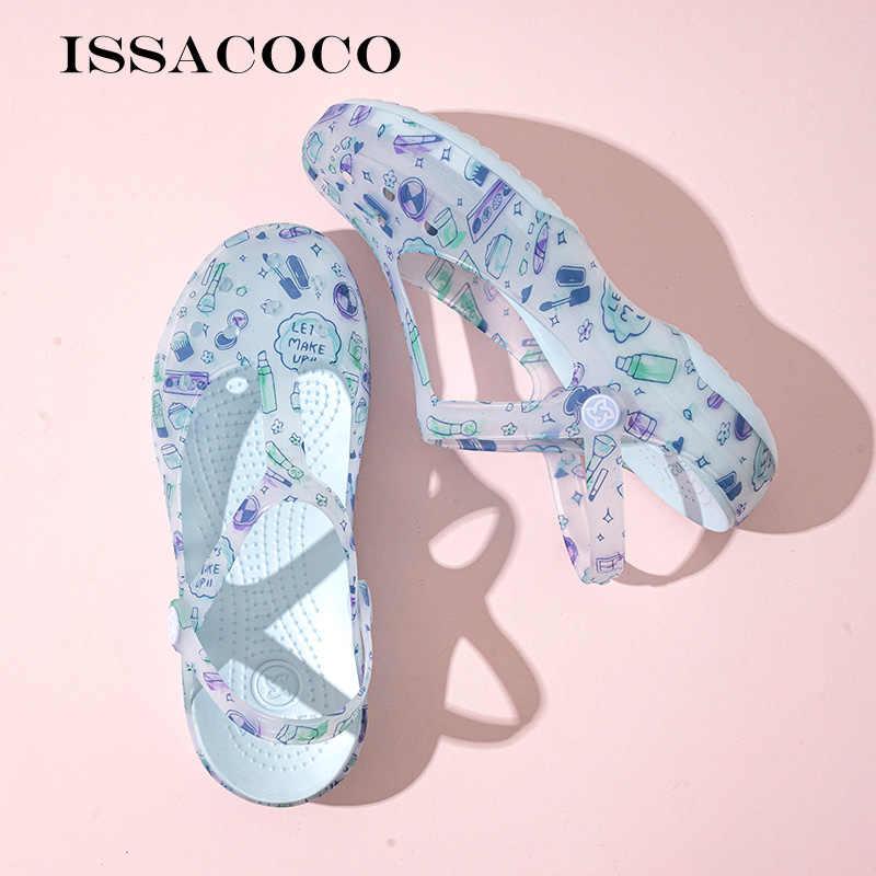 Сандалии женские для сада и пляжа, уличные шлепанцы, Брендовая обувь, желе, летние сандалии