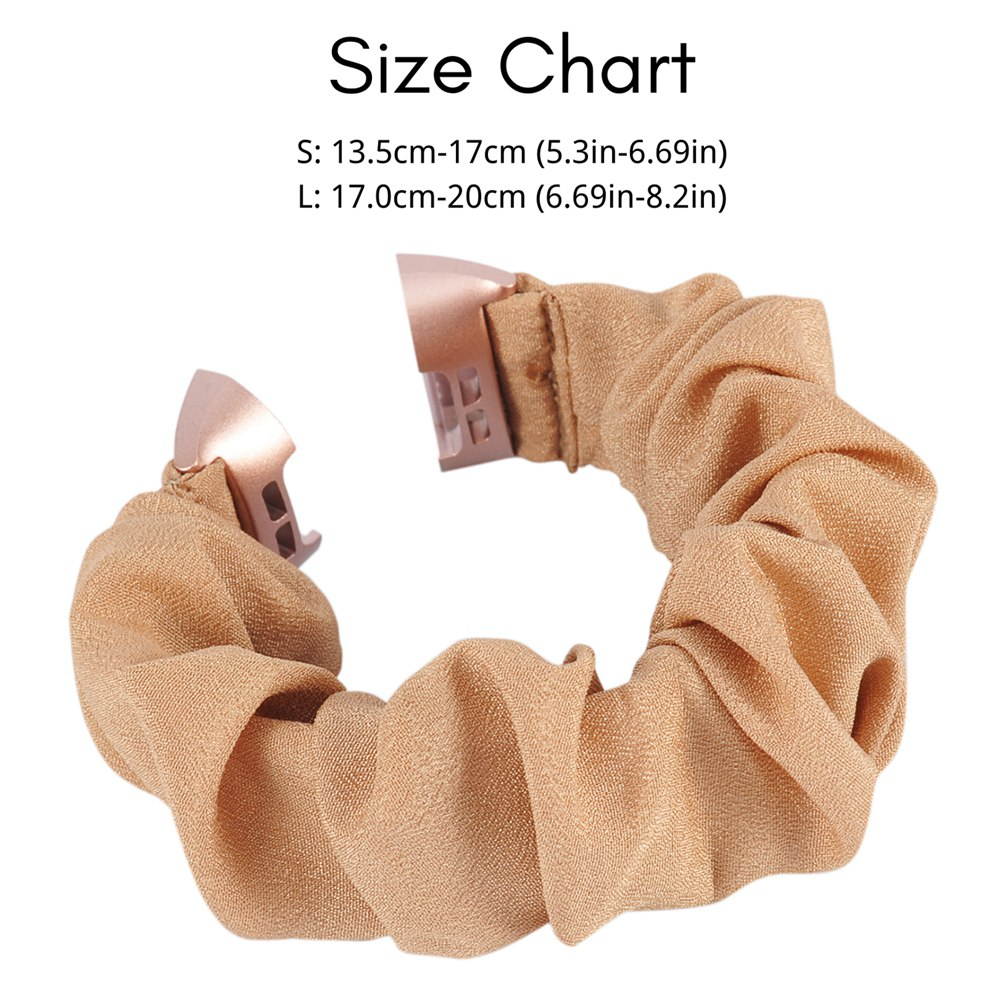 Toyouths Fabric Scrunchies Band for Fitbit Charge 4 Leisure Sport Elastic Strap Replacement Accessories for Fitbit Charge 3 2