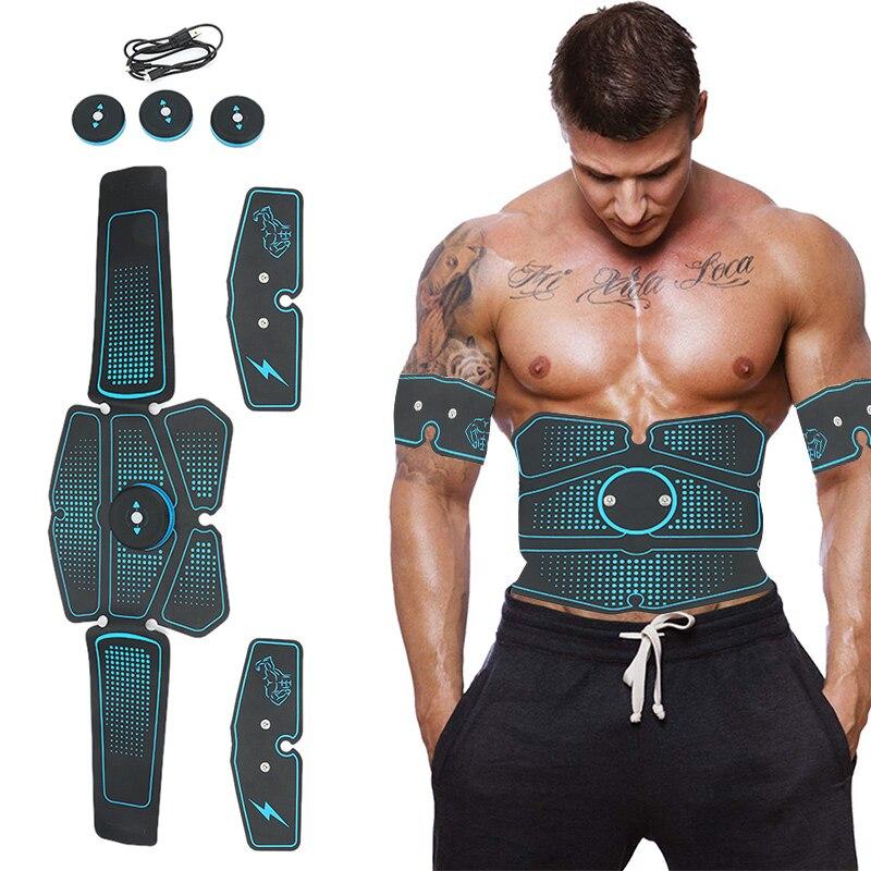 Abdominal Muscle Trainer Massage Stimulator Leg Arm Belly Buttock Exercise Electric Simulators Massage Press Workout Home Gym