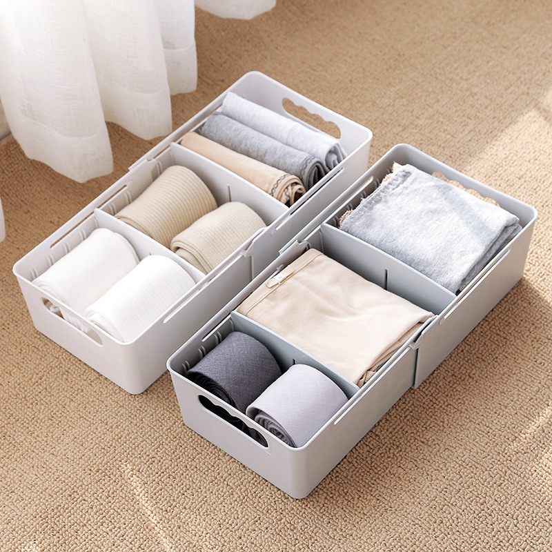 2217 Mesh Division Underwear Accept Box Plastic Socks Underpants Arrangement Box Desktop Accept Drawer Storage|Makeup Organizers|Home & Garden -