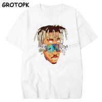 Rip juice wrld 999 resto no céu t camisa de manga curta hip hop masculino t camisa rapper xxxtentacion roupas masculinas hombre