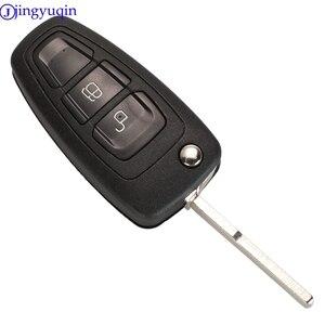 Jingyuqin чехол для ключей с дистанционным управлением для Ford Ranger 2011 2012 2013 2014 2015 2 кнопки HU101 FO21 EB3T-15K601-BA для ключей 5WK50165