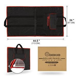 Image 4 - Dokio 80W (40*2pcs) 18V 유연한 접이식 태양 전지 패널 + 12V/24V 태양 컨트롤러 캠핑/여행에 대 한 휴대용 태양 전지 패널
