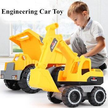 1 pçs do bebê clássico simulação engenharia carro brinquedo escavadeira modelo trator brinquedo caminhão basculante modelo veículos de brinquedo mini presente para o menino