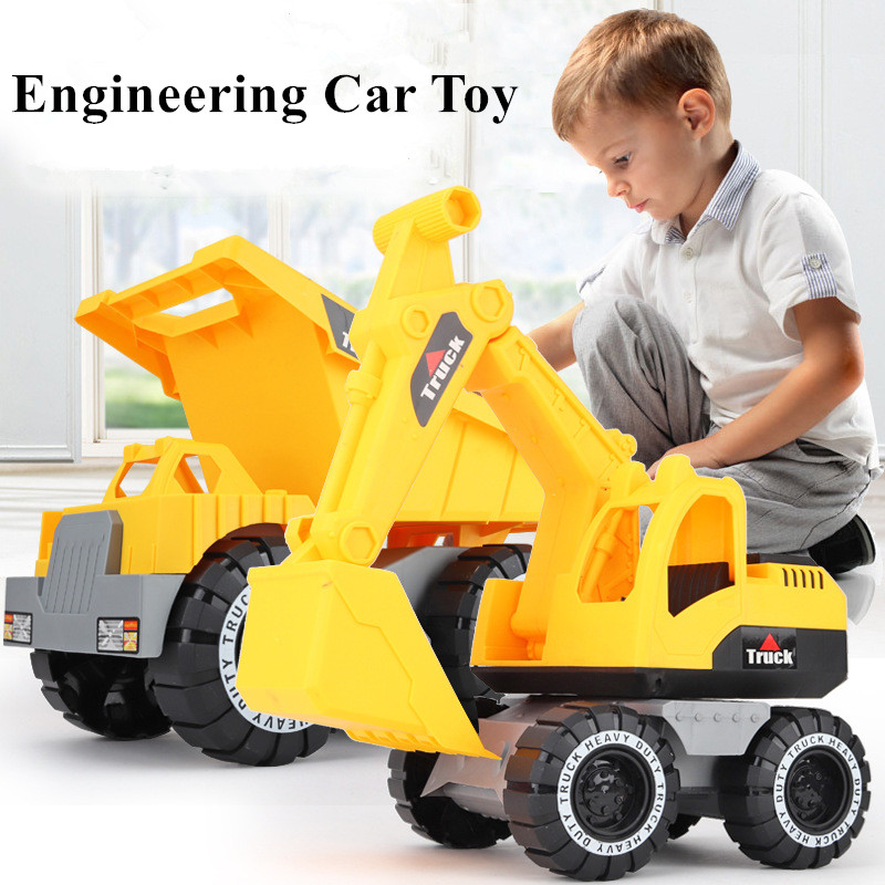 1Pcs Baby Classic Simulation Engineering Car Toy Excavator Model Tractor Toy Dump Truck Model Toy Vehicles Mini Gift for Boy(China)