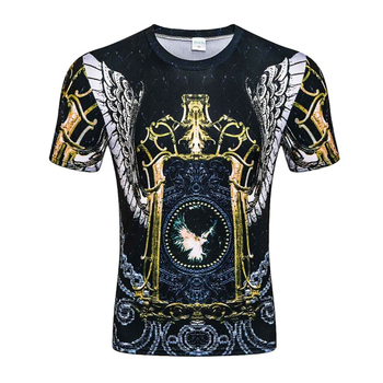 цена на 2020 summer New Men 3D print T-shirt men/women vintage luxury royal floral print Golden flower brand Large size T-shirt Tops