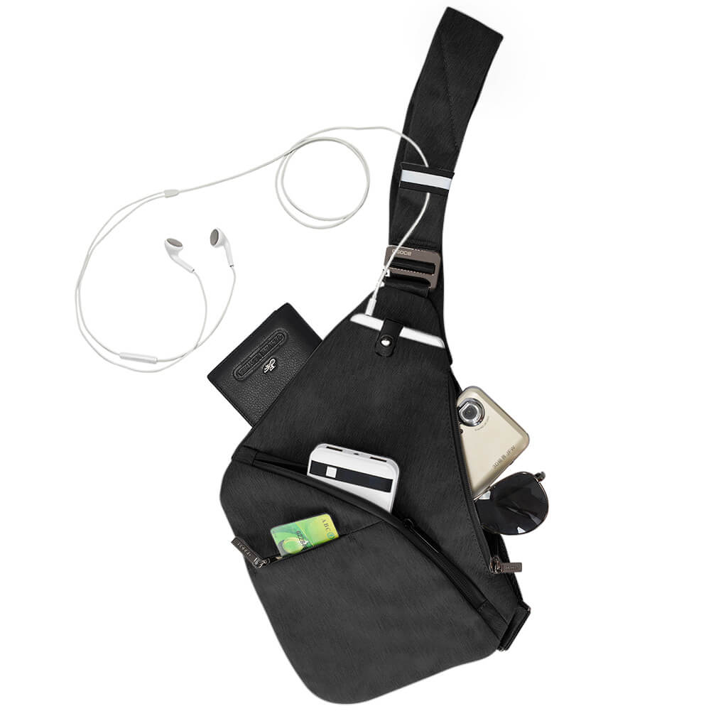 Anti-Theft Crossbody Bag Shoulder Bag Sling Chest bag Waterproof Cover Pack Rucksack Bicycle Sport 2