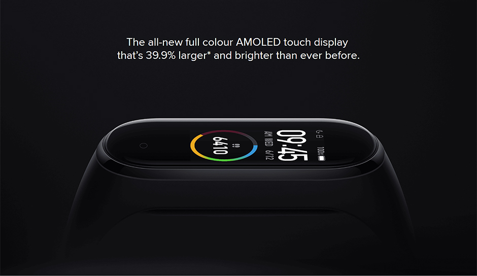 Hd3897750e21242209618f3e0f76a04beE Xiaomi Mi Band 4 Smart Bracelet 3 Color Miband 4 Smartband AMOLED Screen Fitness Traker Bluetooth Sport Waterproof Smart Band