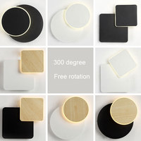 Nordic personalidade criativa pós-moderna sala de estar sala de jantar quarto cabeceira lâmpada designer de rotação da lua lâmpada de parede