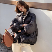 2021 New Solid Color Loose Short White Duck Down Outerwear Winter Women's Casual Stylish Warm Jackets Female Stand Collar Coats