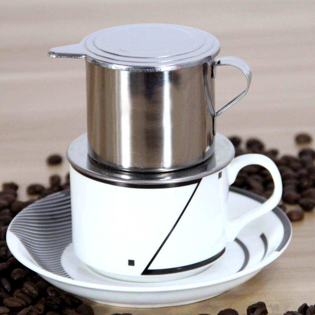 50/100ml Vietnam Style Stainless Steel Coffee Drip Filter Maker Pot Infuse Cup Kitchen Coffeeware Suppies