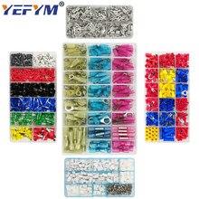 YEFYM terminalleri 9 çeşit kutu seti tüp yalıtım/yalıtım halkası/fiş 2.8 4.8 6.3/XH2.54/konnektör bloğu sıkma terminalleri
