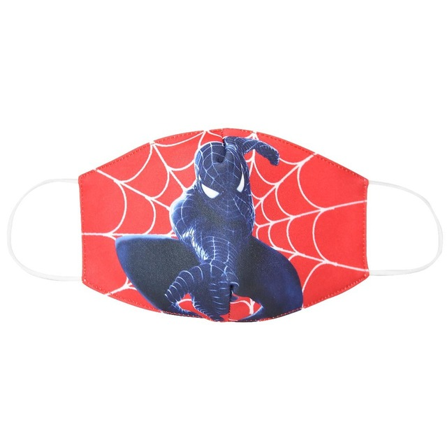 2020 Spiderman Unisex Face Mouth Masks Kids Dust Respirator Washable Reusable Mask Fashion Cotton Non-disposable Mouth Muffle 1
