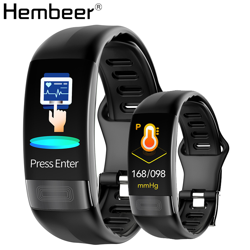 Hembeer H11 Smart Band ECG+HRV Accurate Heart Rate Monitor Blood Pressure Oxygen Monitor Watches Bracelet pk Fitbits