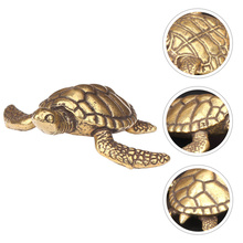 1pc Brass Turtle Statue Gold Desk Home Indoor Decorative Collectible Gift