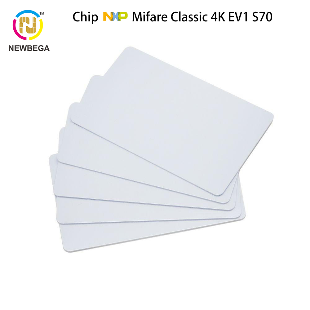8PCS NFC PVC Card Genuine MF1ICS70 EV1 4K--4byte UID  S70 RFID 13.56MHz IC  Key Free Shipping Fast Delivery