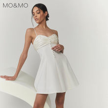 European and American wind 2021 summer new outfit single-breasted tags backless splicing female temperament cultivate one's mora