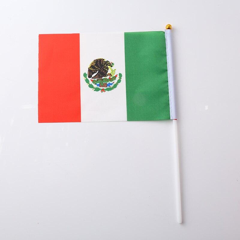Canadian Flag Brazilian Flag Spanish Flag Italian Flag Print Stripes Fashion 30.5*21*0.5cm Terylene Nylon Nationalflag National - Цвет: Mexico