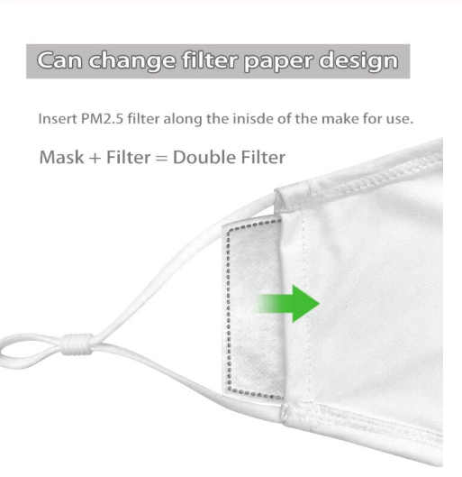 Fashion Reusable Protective PM2.5 Filter Printing mouth Mask anti dust Face mask with 7 Filters Windproof proof Flu Mask 4