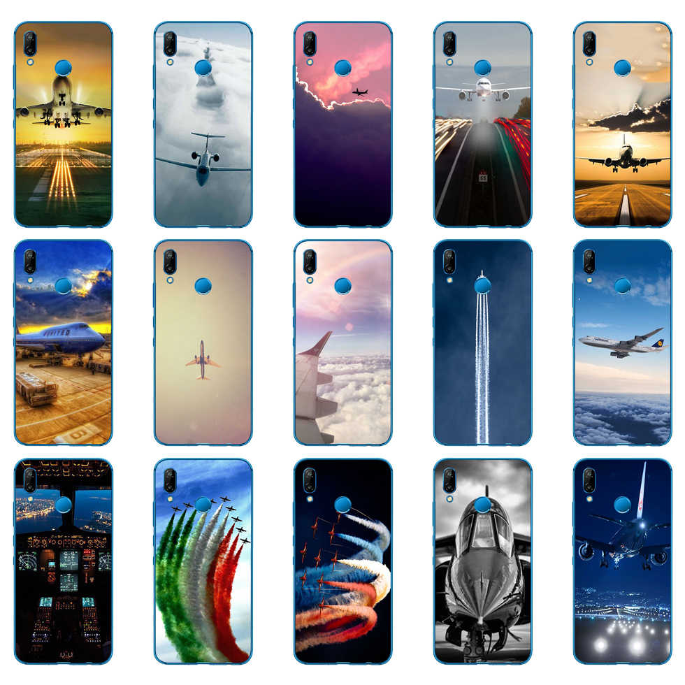 Aircraft Airplane fly travel cloud Sky Soft Silicone Cover for Huawei P9 P10 P20 P30 Lite mate 10 20 PRO lite p smart 2019 case