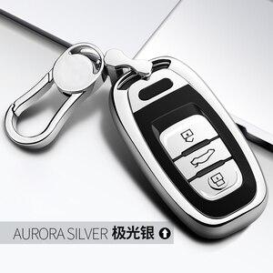 Image 3 - High Quality TPU Chrome Car Key Case Cover Bag fit for Audi Q5 A4 A5 A6 A7 A8 S5 S6 S7 S8 Key Shell Protector Auto Key Chains