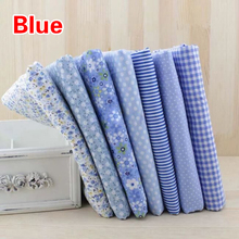 7Pcs Quilting Patchwork Floral Pattern Pure  Cotton Fabric Handmade DIY Sewing Gift Crafts Garment Fabric 25*25cm