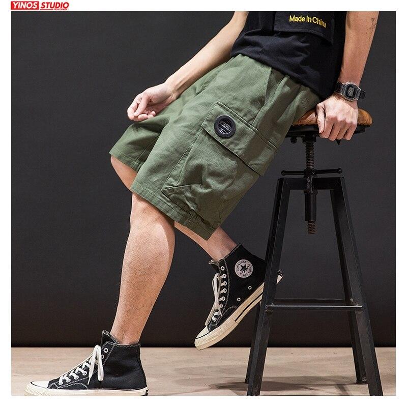 Dropshipping Men Summer Printed Oversize Shorts Mens 2020 Knee Length Korean Loose Hip Hop Pants Male Fashion Clothes Shorts 5XL