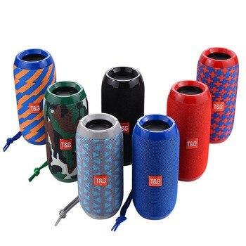 цена на Bluetooth Speaker Portable Outdoor Bass Wireless Column Subwoofer  loudSpeaker Bluetooth Stereo Computer Speakers Waterproof TG