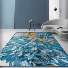 3D Nordic Simple Household Carpets Living Room Bedroom Bedside Multi-function Carpet Crystal Velvet Printed Soft Rug Home Decor persian totem printed home decor antiskid rug