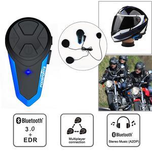 Image 3 - Fodsports 2 chiếc BT S3 Xe máy Bluetooth Liên Lạc Nội Bộ Xe Máy Mũ Bảo Hiểm Tai Nghe Chống Nước BT Interphone Intercomunicador FM
