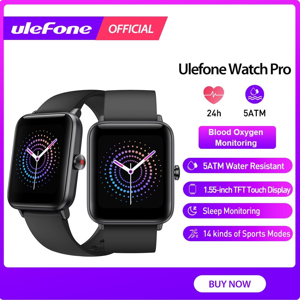 Смарт-часы Ulefone Watch Pro водонепроницаемые (5 атм) С Пульсометром