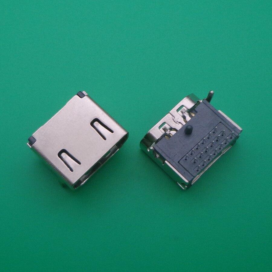 2 pces hdmi 19 pinos fêmea plug conector de interface 3 linhas 19pin (7pin 6pin) 90 graus hdmi tomada reparação substituição