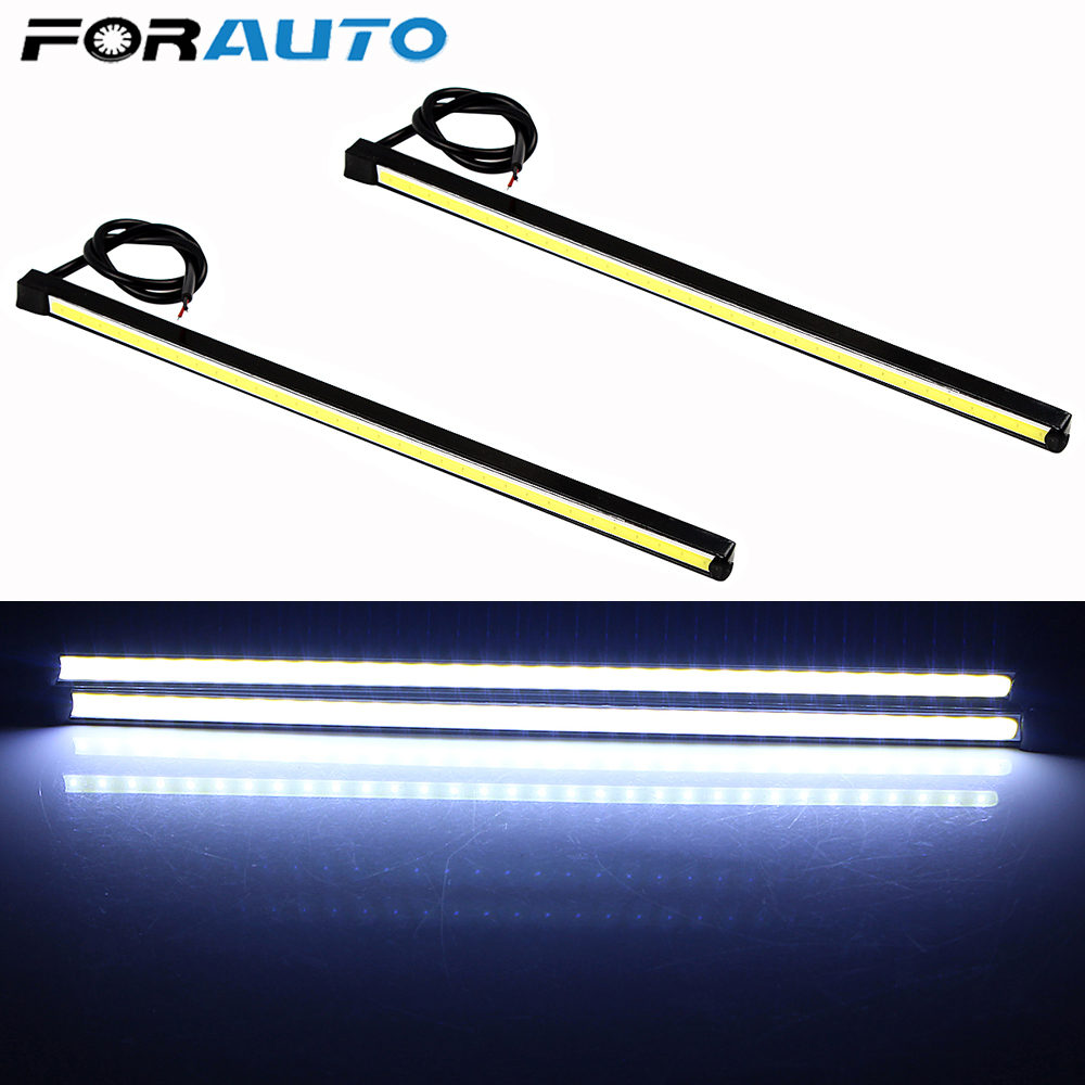 FORAUTO 20.5cm Car LED Daytime Running Lights DRL COB 6000K Fog Lamps Car-styling Auto Accessories